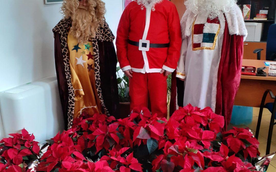 Visita de Papá Noel y los Pajes Reales al Lucero