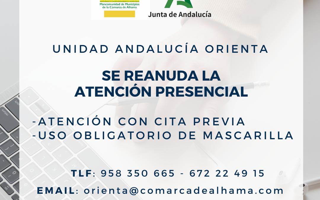 La oficina de Andalucía Orienta reanuda la atención presencial